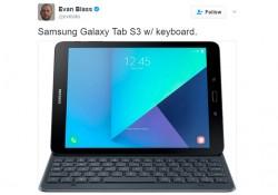 រូបភាពថ្មីរបស់ថេប្លេត Samsung Galaxy Tab S3 បង្ហាញថា នឹងប្រើប្រាស់ជាមួយនឹងក្តារចុចម៉ាញេទិច