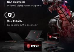MSI ក្លាយជាម៉ាកយីហោកុំព្យូទ័រយួរដៃ ដែលជឿជាក់បំផុត និងជាក្រុមហ៊ុននាំចេញធំជាងគេបំផុតនៅក្នុងទីផ្សារ Gaming Laptop