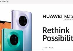 ស្មាតហ្វូនស៊េរីថ្មី Huawei Mate 30 series ក៏មានម៉ូដែលភ្ជាប់នូវបច្ចេកវិទ្យា 5G ផងដែរ