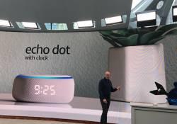 ក្រុមហ៊ុន Amazon បានបង្ហាញនូវផលិតផលថ្មីគឺ Echo និង Echo Dot ដែលភ្ជាប់ជាមួយនឹងម៉ោង និងប្រព័ន្ធសំឡេងដ៏អស្ចារ្យបំផុត