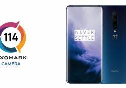 DxOMark បានបង្ហាញថា OnePlus 7 Pro ឈរលេខរៀងទី 5 នៃកំពូលកាមេរ៉ាស្មាតហ្វូន ដោយមានពិន្ទុដល់ទៅ 114