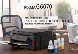 Canon PIXMA G6070 ម៉ាស៊ីនព្រីន Wireless All-In-One សមត្ថភាពខ្លាំងក្នុងការព្រីនបរិមាណច្រើនដោយគ្មានបញ្ហា