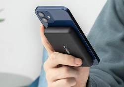 Anker PowerCore Magnetic 5K Wireless Power Bank ឧបករណ៍សាកថ្មស្មាតហ្វូនស៊េរីថ្មីល្អបំផុតសម្រាប់ការប្រើប្រាស់សាកថ្មទូរស័ព្ទ iPhone 12 Series