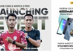 realme C25s ជាមួយបន្ទះឈីប Helio G85 នឹងនាឡិកាឆ្លាតវៃជំនាន់ថ្មី Watch 2 Pro បានដាក់លក់ជាផ្លូវការហើយ